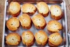 Fette tostate del pane fotografia stock libera da diritti