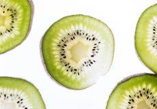 Fette trasparenti di kiwi Fotografia Stock Libera da Diritti