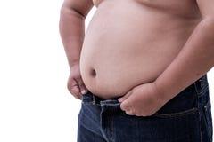 Fetter Bauch lizenzfreie stockbilder