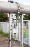 Fetter and key lock Royalty Free Stock Image