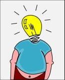 Fetter Mann mit guter Idee Lizenzfreies Stockbild