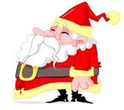 Fetter Weihnachtsmann lizenzfreies stockbild