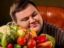Fettes Fleisch fressendes gesundes Lebensmittel der Diät Gesundes Frühstück mit Gemüse Stockfotos