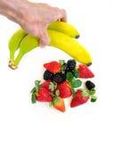 Fettfreier gesunder Imbiß der Frucht Lizenzfreie Stockbilder
