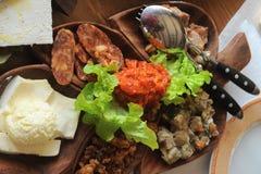 Fetthaltige Nahrungsmittel Stockfoto