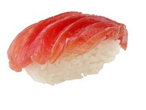 Fetthaltige Sushi des Thunfischs (Toro) Stockfotos