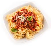 Fettuccine или спагетти с Bolognese соусом Стоковая Фотография