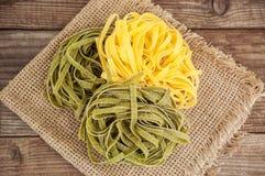 Fettuccine яичка (макаронные изделия) Стоковое Изображение