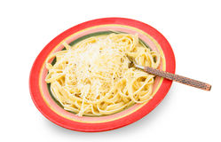 Fettuccine alfredo Stock Photography