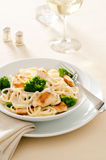 Fettuccine Alfredo Royalty Free Stock Photos