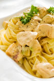Fettuccine Alfredo Royalty Free Stock Images