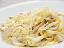 Fettuccine Alfredo della pasta Fotografia Stock