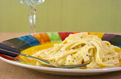 Fettuccine Alfredo meal Royalty Free Stock Photo