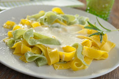 Fettuccine Alfredo Stock Photos