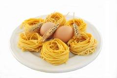 Fettuccine alle 'Ei- und Weizenohren Stockfoto