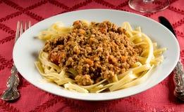 Fettuccine Bolognese Stock Image