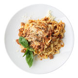 Fettuccine Bolognese Stock Photography