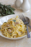 Fettuccine in a bowl Royalty Free Stock Photography