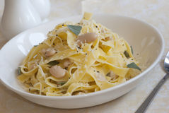 Fettuccine in a bowl Stock Photography