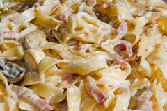 Fettuccine Carbonara Stock Photography