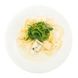 Fettuccine da massa com queijo azul Imagem de Stock Royalty Free