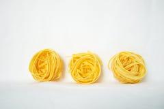 Fettuccine de las pastas Fotografía de archivo