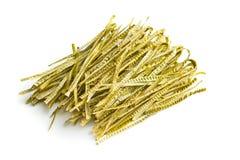 Fettuccine della soia verde Il glutine libera, alta pasta della fibra Immagine Stock