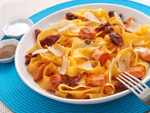Fettuccine with dried tomatos Royalty Free Stock Photo