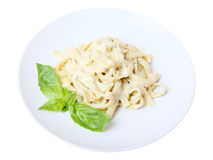 Fettuccine with grated cheese Stock Photo