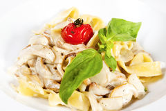 Fettuccine with mushrooms Stock Photography