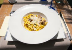 Fettuccine with mushrooms Royalty Free Stock Photo