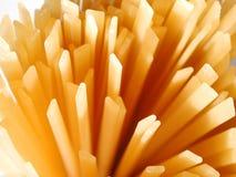 Fettuccine noodles. Uncooked fettuccine noodles Stock Photo