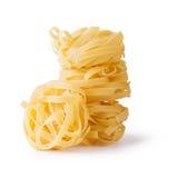 Fettuccine pasta. Isolated on white background Royalty Free Stock Photos