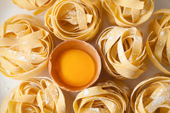 Fettuccine pasta italian food still life Royalty Free Stock Image