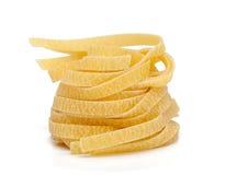 Fettuccine pasta over white Royalty Free Stock Image