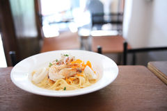 Fettuccine seafood Royalty Free Stock Photo