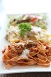 Fettuccine spaghetti Stock Photos