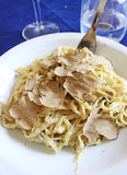 Fettuccine with truffle Stock Photos