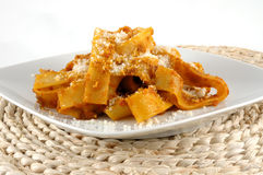 Fettuccini with boar Royalty Free Stock Photos