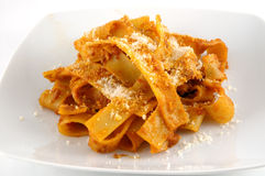 Fettuccini with boar Royalty Free Stock Photography