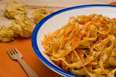 Fettuccini Pomodoro. Royalty Free Stock Photography