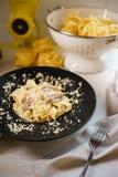 Fettuccini z kurczakiem Zdjęcie Stock