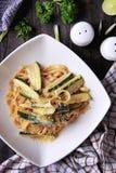 Fettuccini Zucchini Stock Image