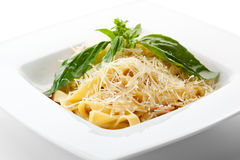 Fettucine Carbonara Stock Images
