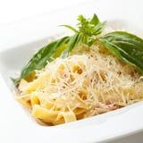 Fettucine Carbonara Stock Image