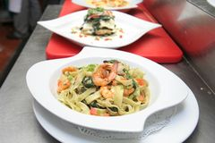 Fettucine marinara seafood Royalty Free Stock Images