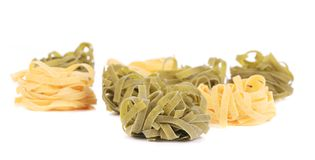 Fettucine pasta isolated. Stock Photography