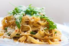 Fettucine pasta with sundried tomato Royalty Free Stock Images