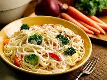 Fettucine Primavera Stock Images