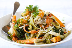 Fettucine Primavera Royalty Free Stock Photo